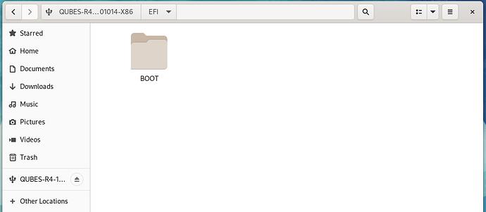 Qubes 4-1 no boot folder 2